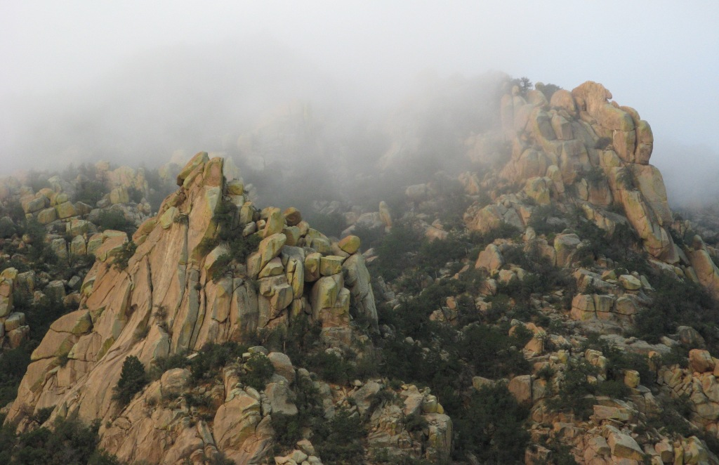 Cochise Stronghold Fog Lifting